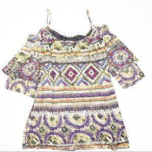 Show Me Your MuMu Cold Shoulder Boho Mini Dress